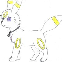 Vir the white umbreon by SesshaXIII