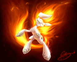 Storm Fire by VeridianWolf