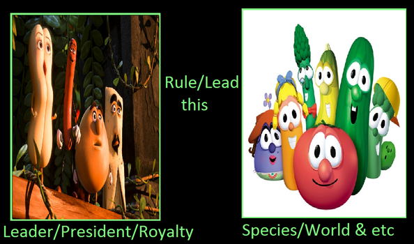What if the groceries lead the VeggieTales by Paula712