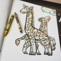 Giraffes by Jay-Pines