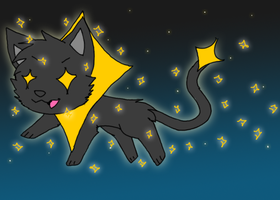 Sparkle Cat by silvazelover2