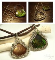 Making-of - Ammolite and Sunstone Pendants by FILIGRY