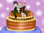 :B-day gift for GRAYLU232: :Gratsu: :Fairy Tail: by roxiuuu