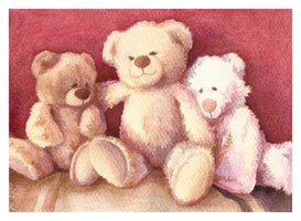 Three Teddybears by Selven7