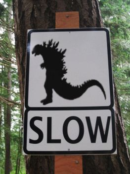 Caution Monster Crossing by Ing213