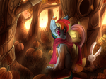 Have a happy Flutterdash in a pumpkin forest by Bread-Crumbz