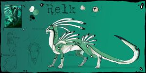 Relk reference sheet by Anarchpeace