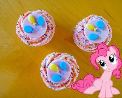 Pinkie Pie's Strawberry Surprise Cupcakes by LadyGryffindor