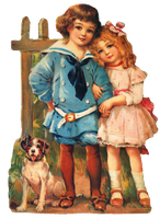 Victorian boy and girl clipart by jinifur