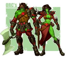 Orc Female Male  by bokuman-da2