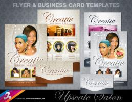 Salon Flyer and BC Templates by AnotherBcreation