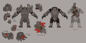 Black Orc Armor Model Layouts by JonathanKirtz