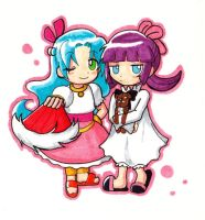 Gift: Chibi Rulue and Feli by cafe-delight