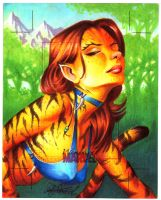 Tigra artist proof by andypriceart