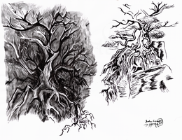 Ink Trees by Scorpion451