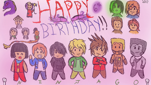Ninjago 6th Birthday by greengigal