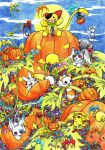 Pumpkin Field Party by aconite-pawlove