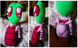 Zim Plushie -Not Finished- by Brainworms