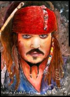 Captain Jack Sparrow by vipinkabadi