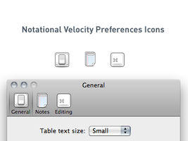 Notational Velocity Pref Icons by TaylorCarrigan