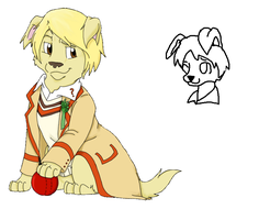 WIP 5th doctor dog not mine just using as a ref by webkinzfun8