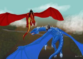 Saphira and Thorn by Kalia24