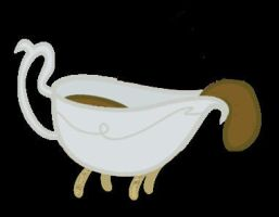Canine Gravy Boat Vector by mattwo