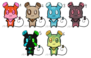 Mouse adoptables, set 1 by Shirope