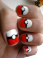 Pokeball nails! by TheBreakfastUnicorn