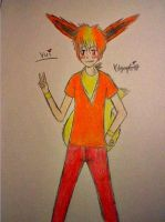Vui the Flareon by Burnt-X3