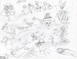 Fear RPG sketch dump by Leeanix
