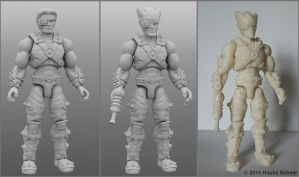 3D printed alien warrior by hauke3000