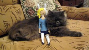 Fiona and my cat Lizzza ^___^ by CandyMermaid