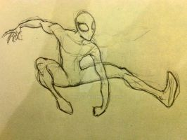 The Ultimate Spider Man pencil sketch by joma33