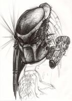 Predator sketch - unfinished by SolidAlexei