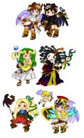 Kid Icarus Uprising Cast of Characters by purplemagechan