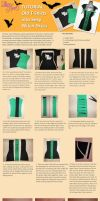 Upcycle Tutorial- T-Shirts into Witch Costume Dres by Lolanova