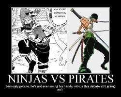 Ninjas vs Pirates by Allen-Blade