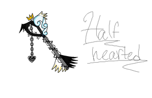 Half-Hearted Keyblade by Im-not-short-grl