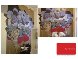 wall mural for the grace salon by penpointred