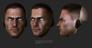Male Head Sculpt by HazardousArts