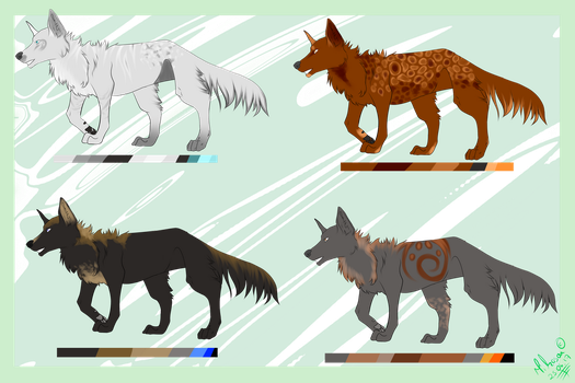 OPEN----Wolf adopts for Points!! by Mikosou