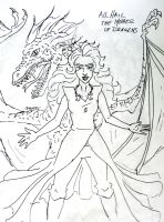 All Hail the Mother of Dragons.... by BansheeBender