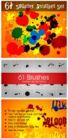 61 Splatter Brushes Set by nasirktk