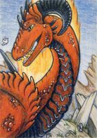 ACEO: Brave Little Bird by cloudstar-wolf