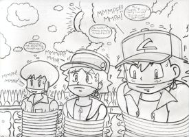 Sammy, Richie, and Ash B and G by hypermagneto999