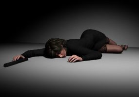 Nicole Greene - down and out on the studio floor by Torqual3D