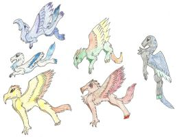 Free Hippogriff Adopts CLOSED by Shadowhawk-Adopts
