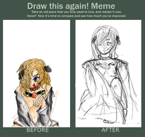 Draw this again -Meme- by Artieukchan