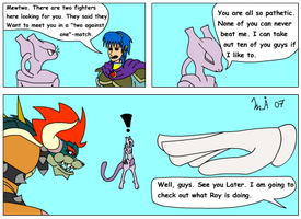 Mewtwo brags too much by Kurvos